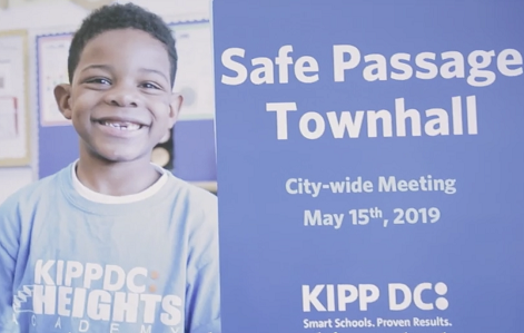 Flyer for the Citywide Safe Passage Convening at KIPP DC on May 15 2019